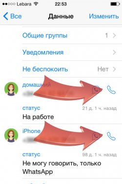 WhatsApp для iPhone